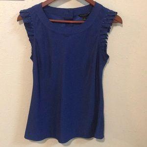 Banana Republic royal blue blouse shirt. Sz Small